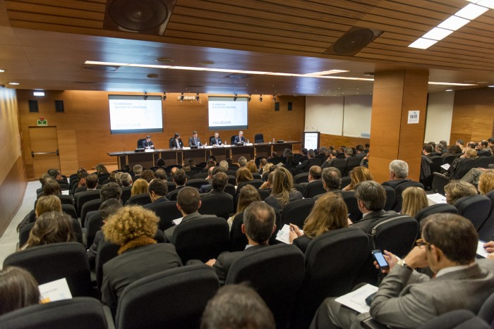 Salón de Actos de Cecabank en la II Jornadas de Securities Services