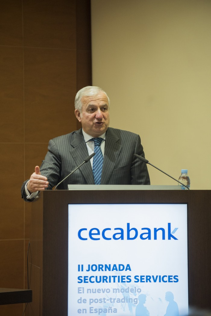 El Director General Adjunto de Cecabank, Jorge Gil, en la II Jornada de Securities Services de Cecabank
